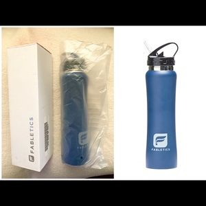 FABLETICS  blue peacock stainless water bottle NEW